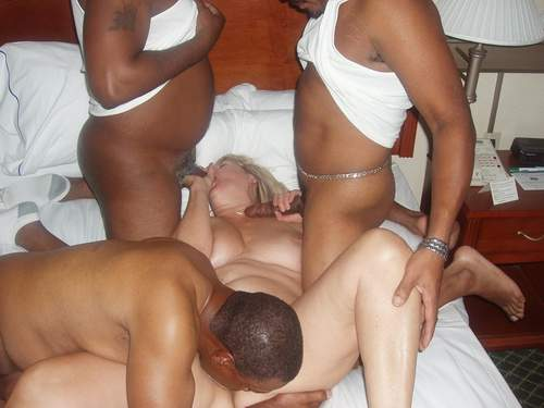 Interracial gang bang porn